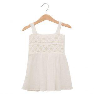 White summer dress in cotton