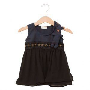 Black and blue teddy dress
