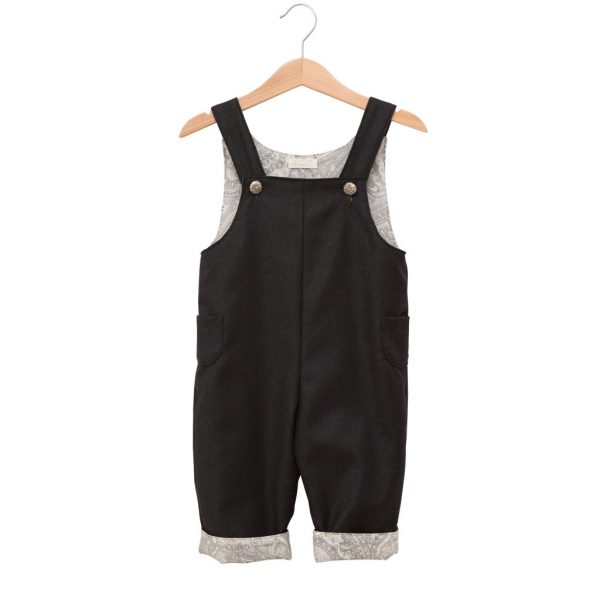 Gray overalls with straps