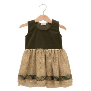 Golden tulle dress