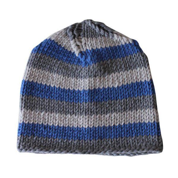 blue greyish beanie
