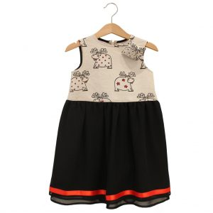 reindeer dress, black hem