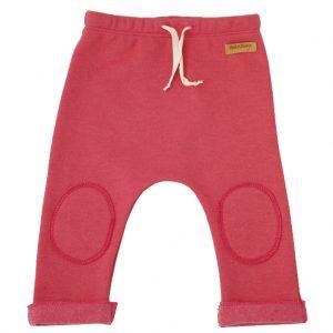 fuchsia pants, older