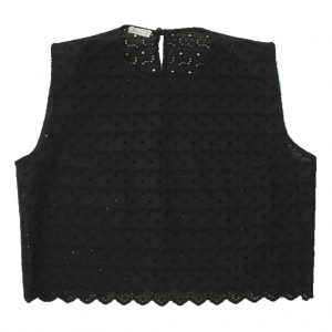 black cotton lace top