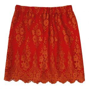 orange women lace skirt