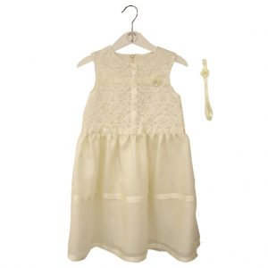 white silk dress 104cm