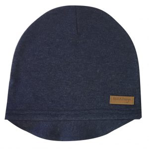 denim blue beanie with lid