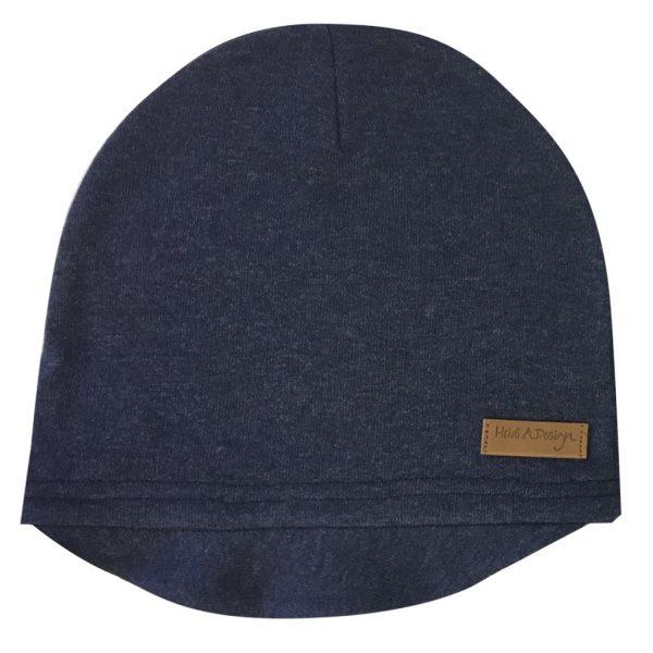 denim blue beanie with lid