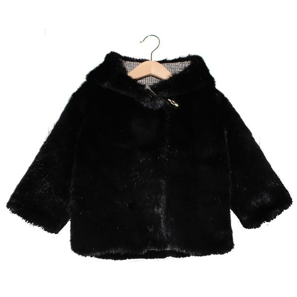 black fur coat