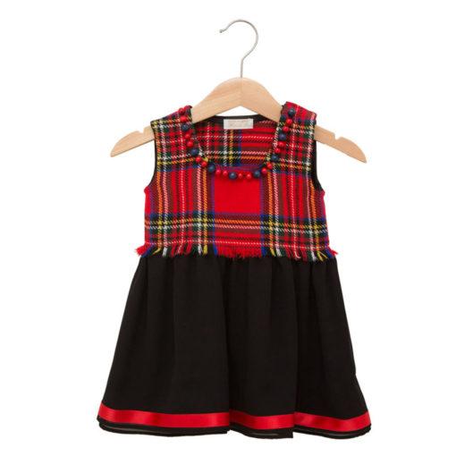 Scottish dress in wool and silk