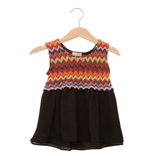 Missoni-styled dress in cotton and silk