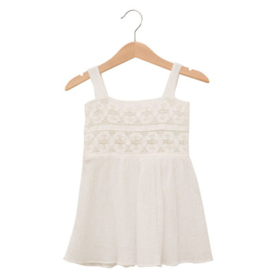 White summer dress in cotton
