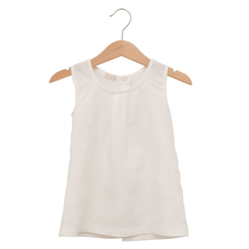 white cotton dress with buttons