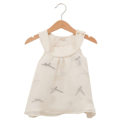 white baby bow dress