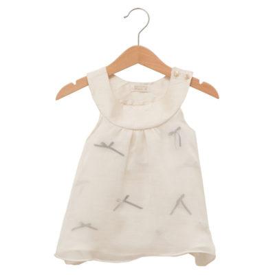 white baby bow dress