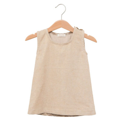 Linen angel wing dress