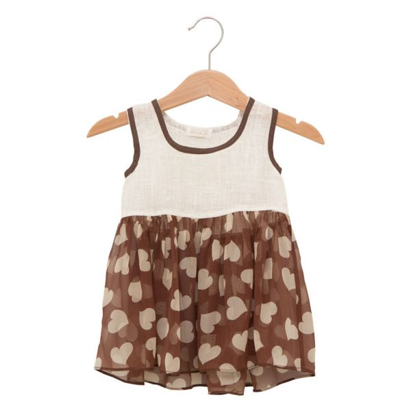 brown heart dress