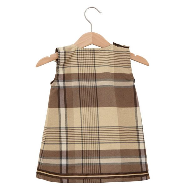 Brown scottish dress with a butterfly