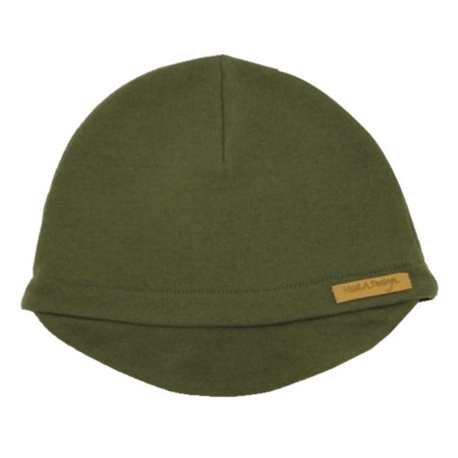 Army green beanie with lid