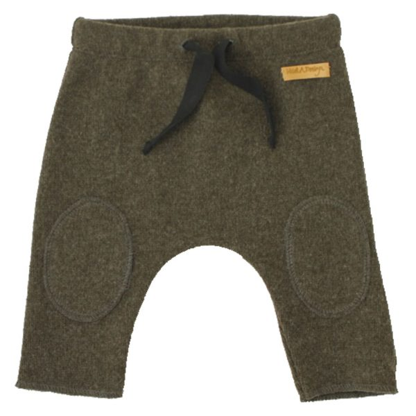 army green knitted pants, kneepads