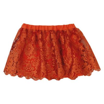 baby orange skirt