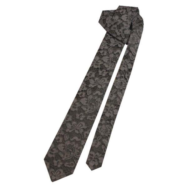 gray lace tie