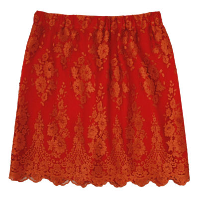 orange women lace skirt
