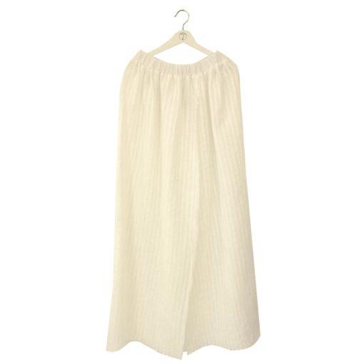 white long linen dress