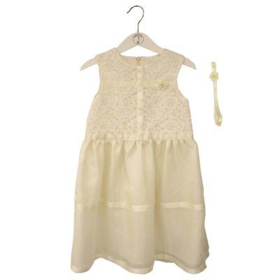 white silk dress 104cm