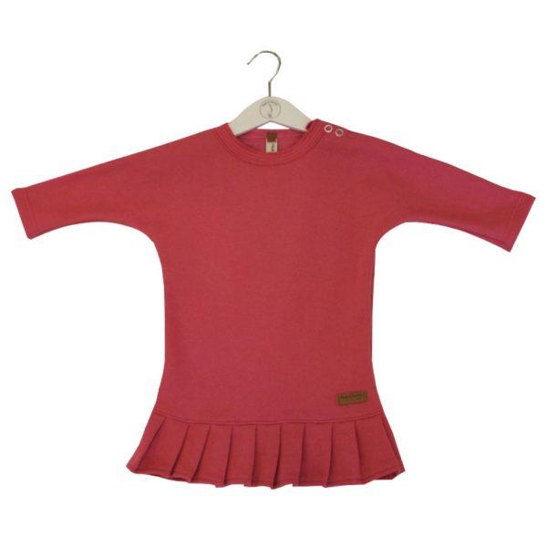 Fuchsia dress with frill