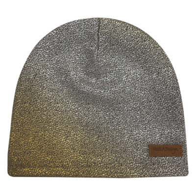 Golden and silver beanie