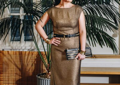 Kristiina Salonen`s  golden dress