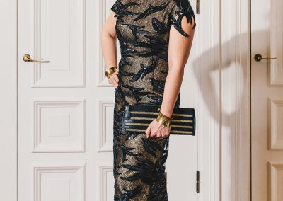 Kristiina Salonen`s outfit at the Presidential castle