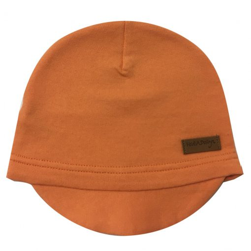 beanie with lid orange