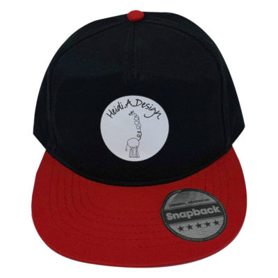 baseball cap kids black with red brim