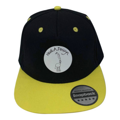 baseball cap kids, yellow brim