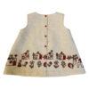 Linen A-lined dress,back