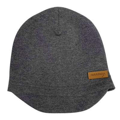 Grey beanie with a lid