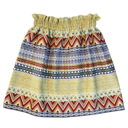 Women colorful maroccan skirt