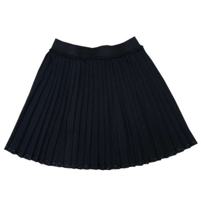 leated skirt with hem details