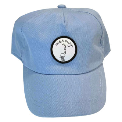 light blue baby cap