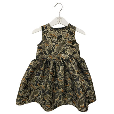 Golden print princesse dress