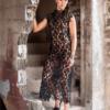 Sarita black lace dress