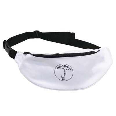 White hip bag