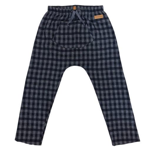 check fabric pants