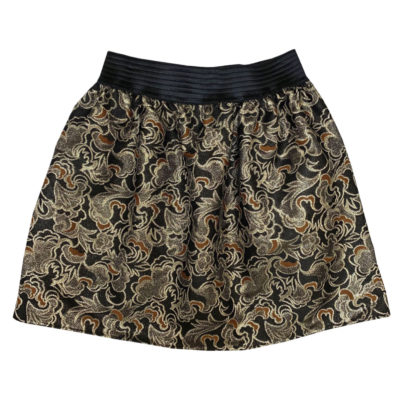 golden pattern skirt