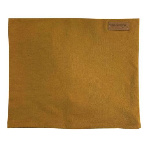 Cognac brown tube scarf