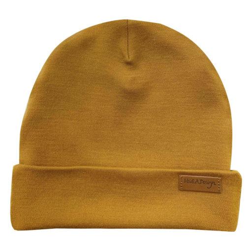 Mustard wool beanie