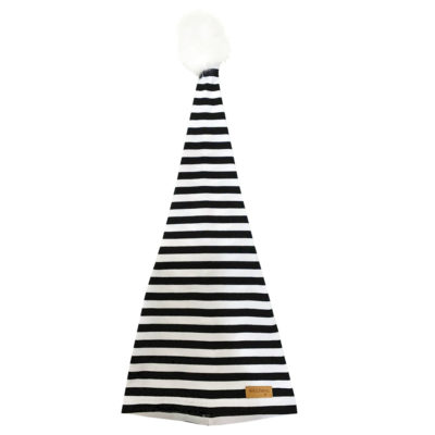 b&W christmas tree hat, front