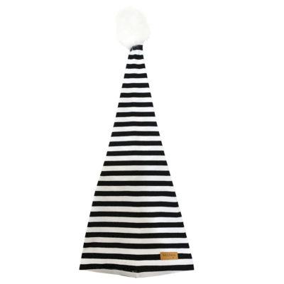 b&W christmas tree hat, front